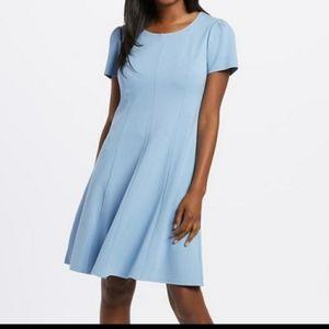 Draper James Powder Blue Ponte A Line Dress L NWT